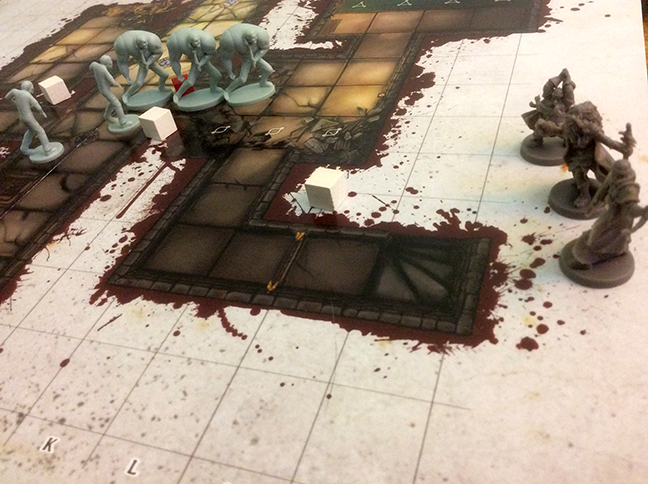 The heroes made it to the exit to the level without much trouble, leaving the guards in the lurch.